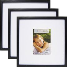 Walmart Mainstays 13 X 13 Matted To 7 X 5 Linear Frame Black