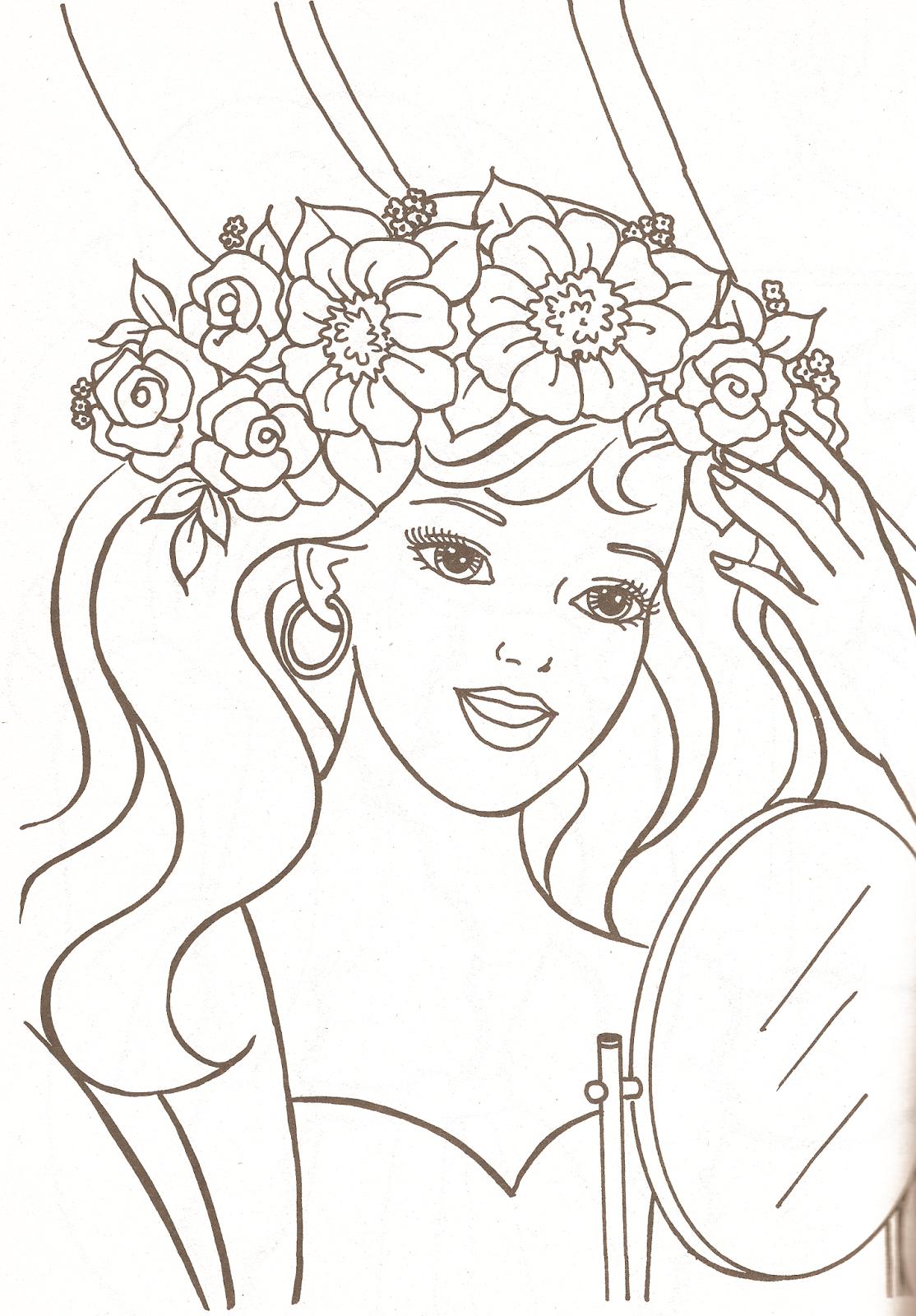 Miss Missy Paper Dolls: Barbie Coloring Pages Part 1 ...