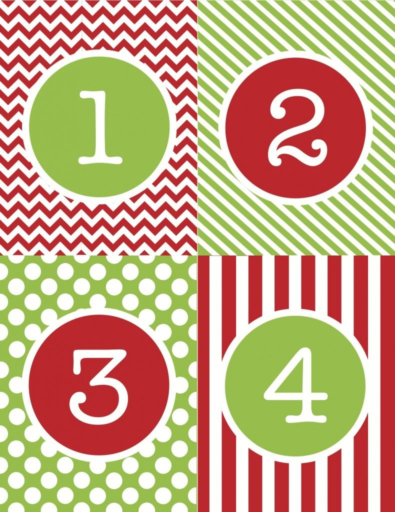 Advent Calendar Number Printables | Christmas!! | Pinterest ...
