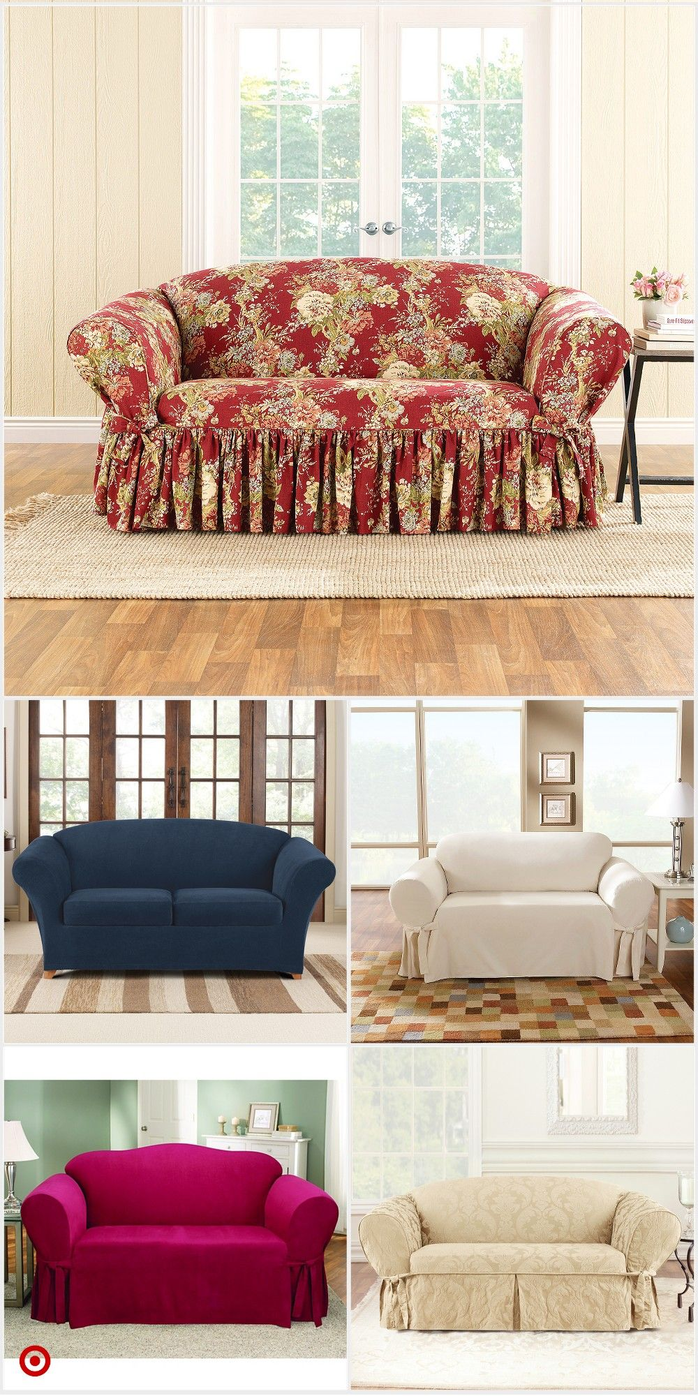 Shop Target For Loveseat Slipcover You Will Love At Great Low Prices Free Shipping On Orders Of 3 Shabby Chic Bedroom Furniture Loveseat Slipcovers Love Seat