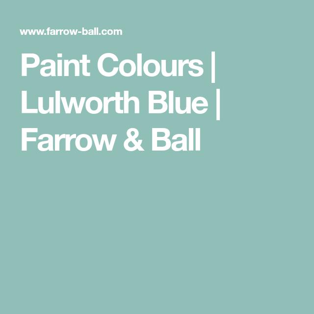 Best Paint Colours Lulworth Blue Farrow Ball Farrow 640 x 480