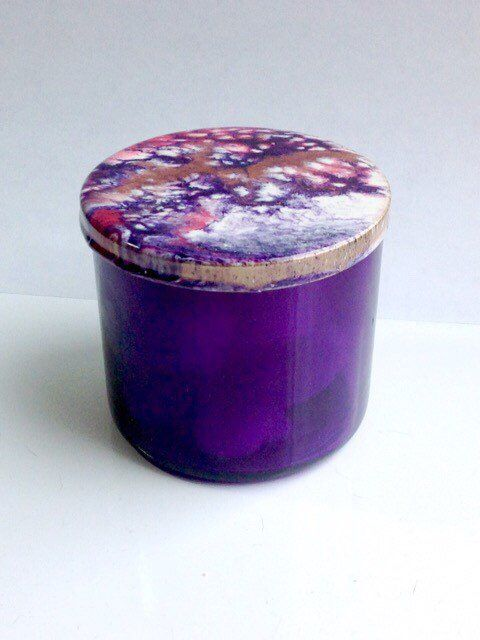 Bathroom Storage Jar with Resin Art Lid (With images ...