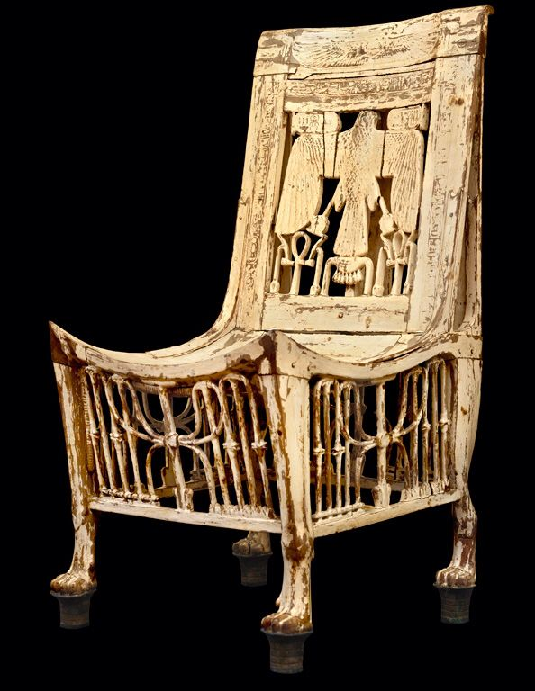 Surprising Chair From Tutankhamens Tomb Egyptian Furniture Ancient Pabps2019 Chair Design Images Pabps2019Com