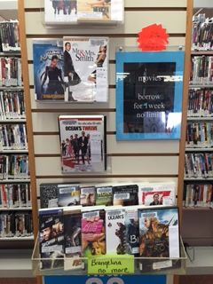 Brangelina no more movie display at the Plainville Public Library