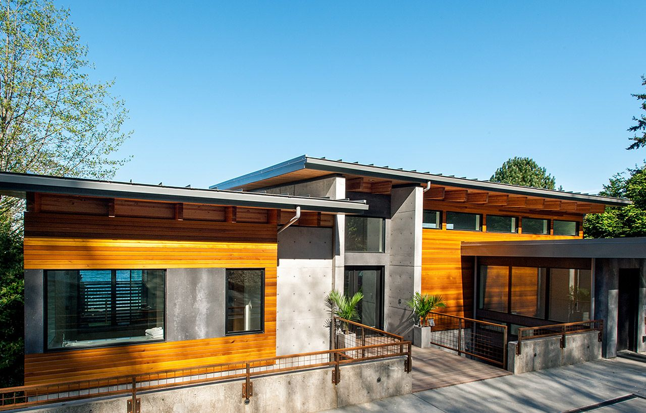 Hillside House Bainbridge Island, WA Built on a steep slope with prior landslide issues, this home was an exciting challenge for Coates Design Architects. As the residence has direct beach access it was designed with the sensitive shoreline environment in…Read more ›