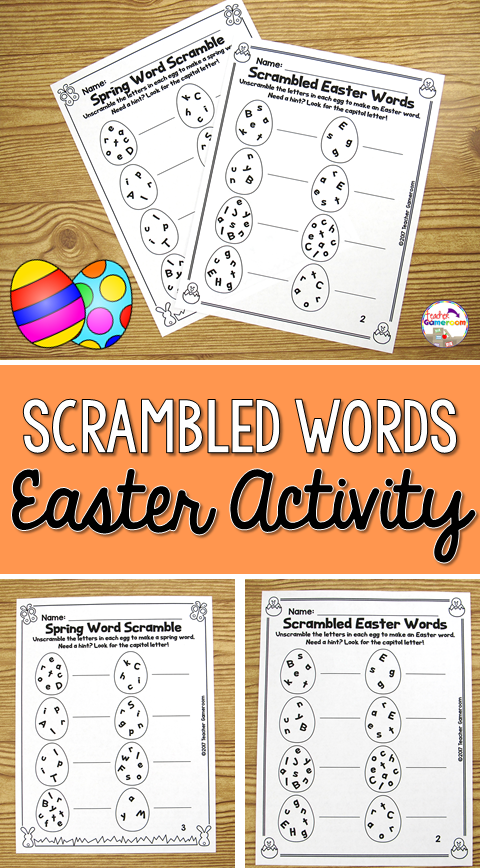 Easter Word Unscramble Teacher Gameroom Products Pinterest