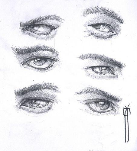 Ojos Hombres Pq Bocetos Ojos Dibujos De Ojos Y Ojos A Lapiz