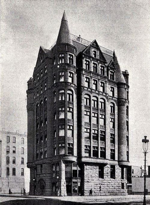 danismm \u201c\u0027Modern\u0027 Office Building, Chicago 1892 Alfred Smith arch