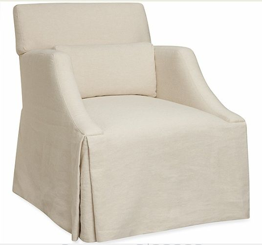 Single Couch Chair Cover Office Chairs With Adjustable Arms Slipcovers Or Upholstery Image From Lee Industries Linen