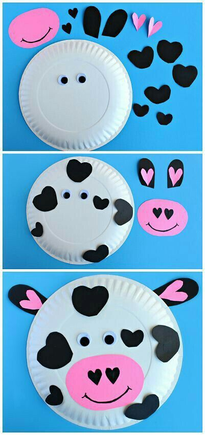 Easy To Make Cow Paper Plate Craft For Toddlers And Activities