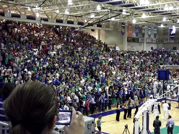 Over 4000 screaming fans showing support to the Eagles