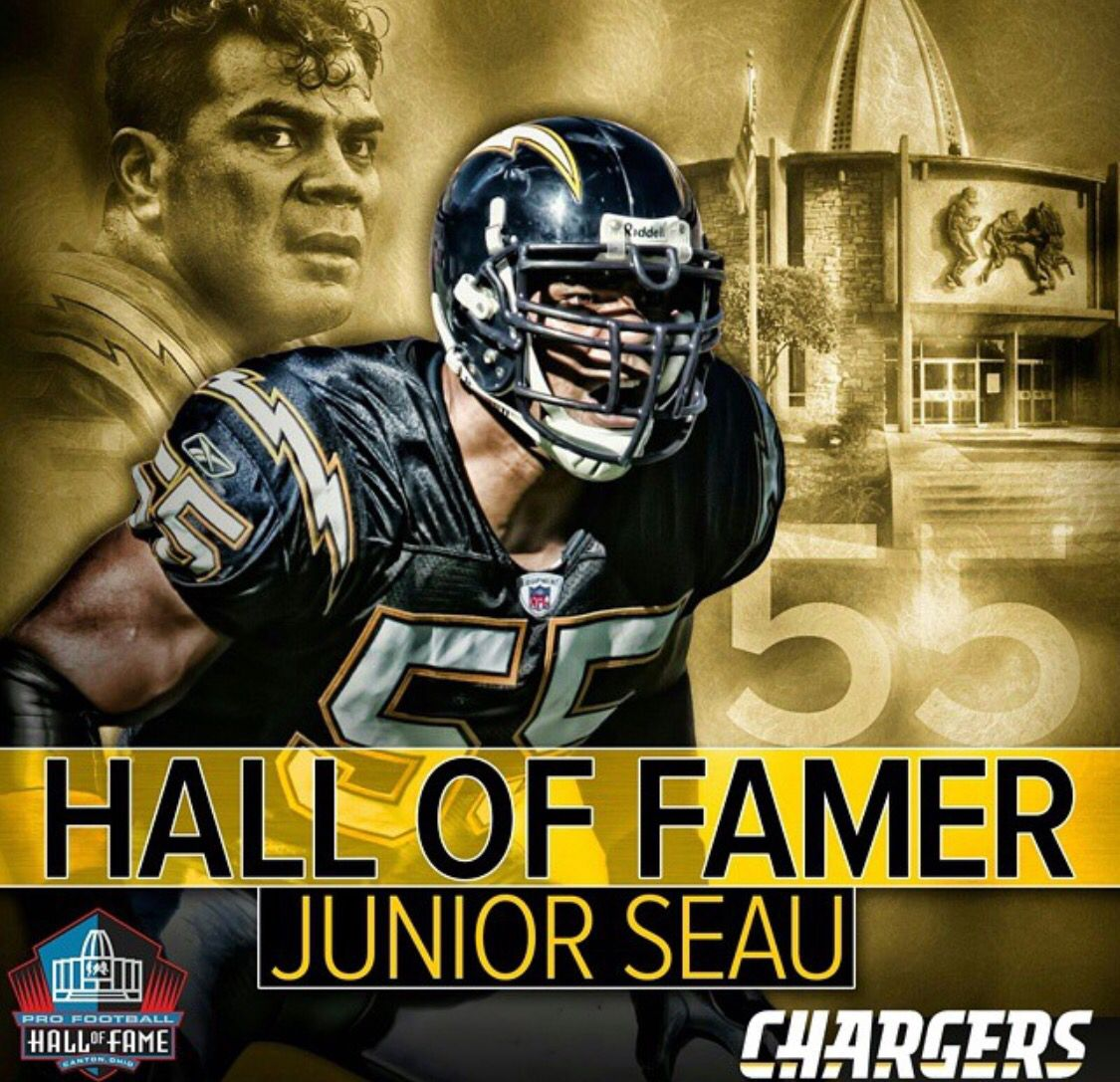 San Diego Chargers Hall Of Fame Players: Hell Yeah!!! Long Live Jr Seau My Boy Made It!!