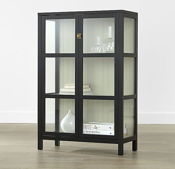 Glass Front Display Cabinets For Every Budget Black Display Cabinet Glass Cabinets Display Display Cabinet Black china cabinet with glass doors