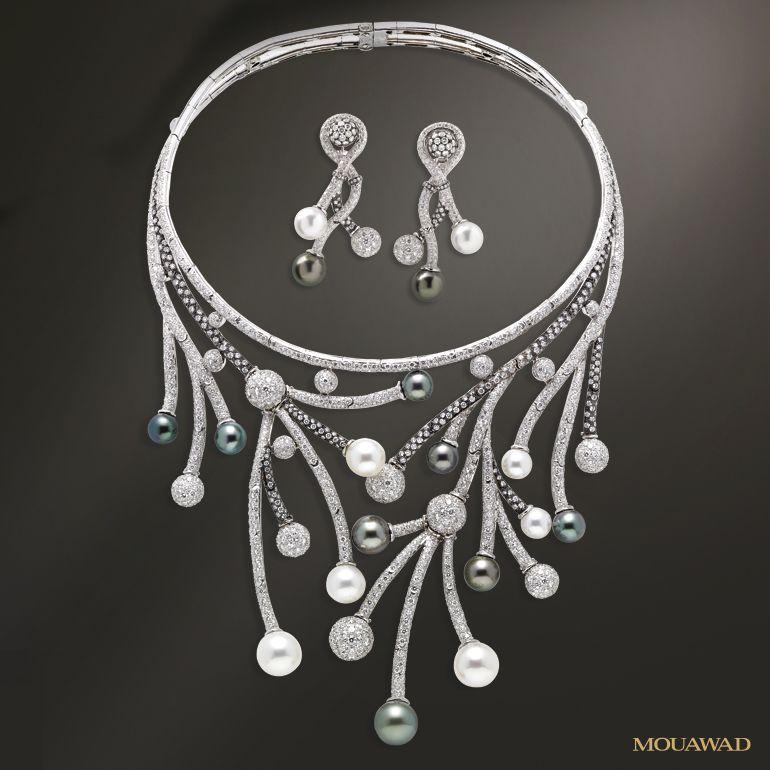 Mouawad Jewelry Mouawad 18k White Gold Diamond South