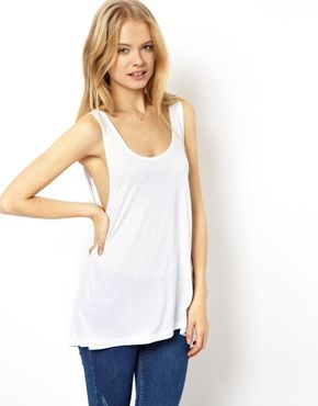 75b4feaa ASOS Tank with Low Scoop Back | Fashion | Pinterest | White tank ...