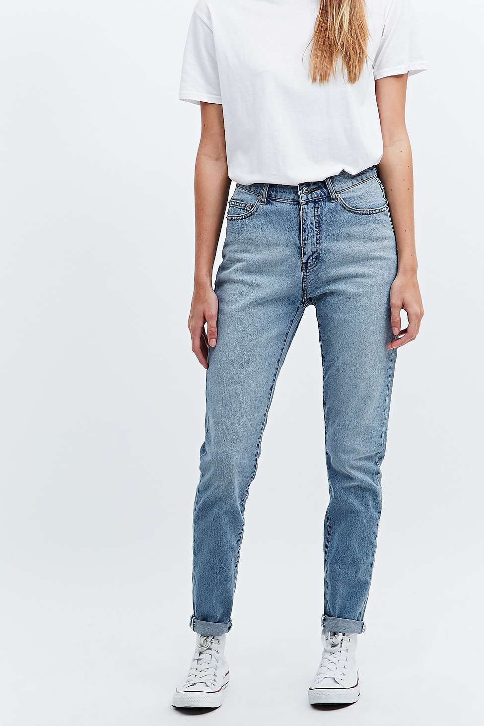 39dc55e218a9 Cheap Monday Donna Mid Blue Straight Leg Jeans