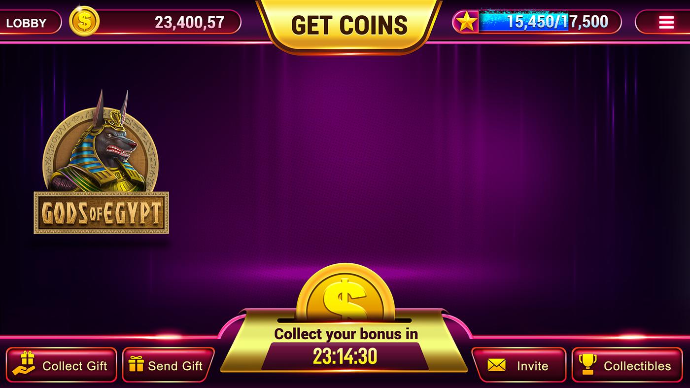 Slot Game on Behance Slots games, Games, Slot