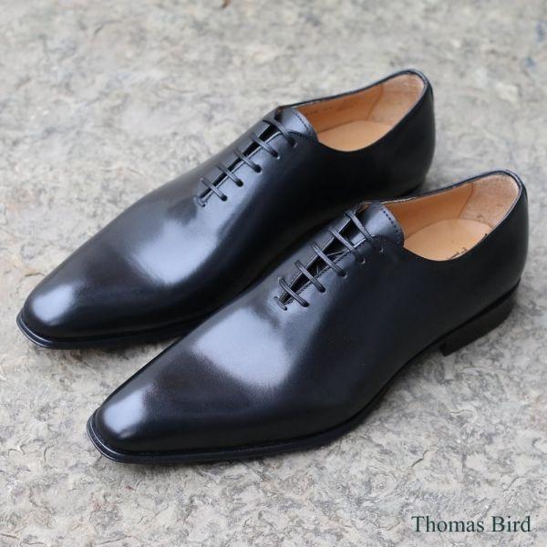 Black Wholecut Shoes   Thomas Bird