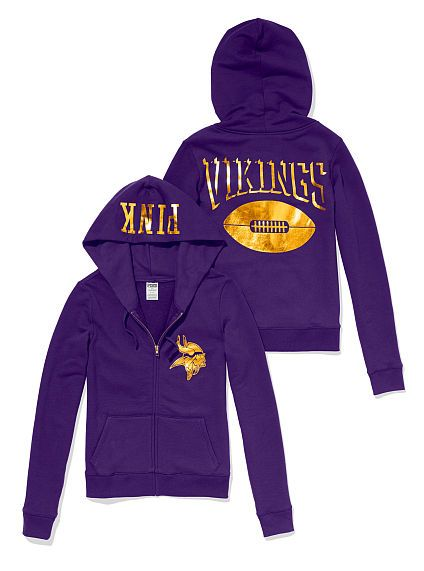 cfa5058b Cheer on the Vikes in style with this Zip Up Hoodie - PINK ...