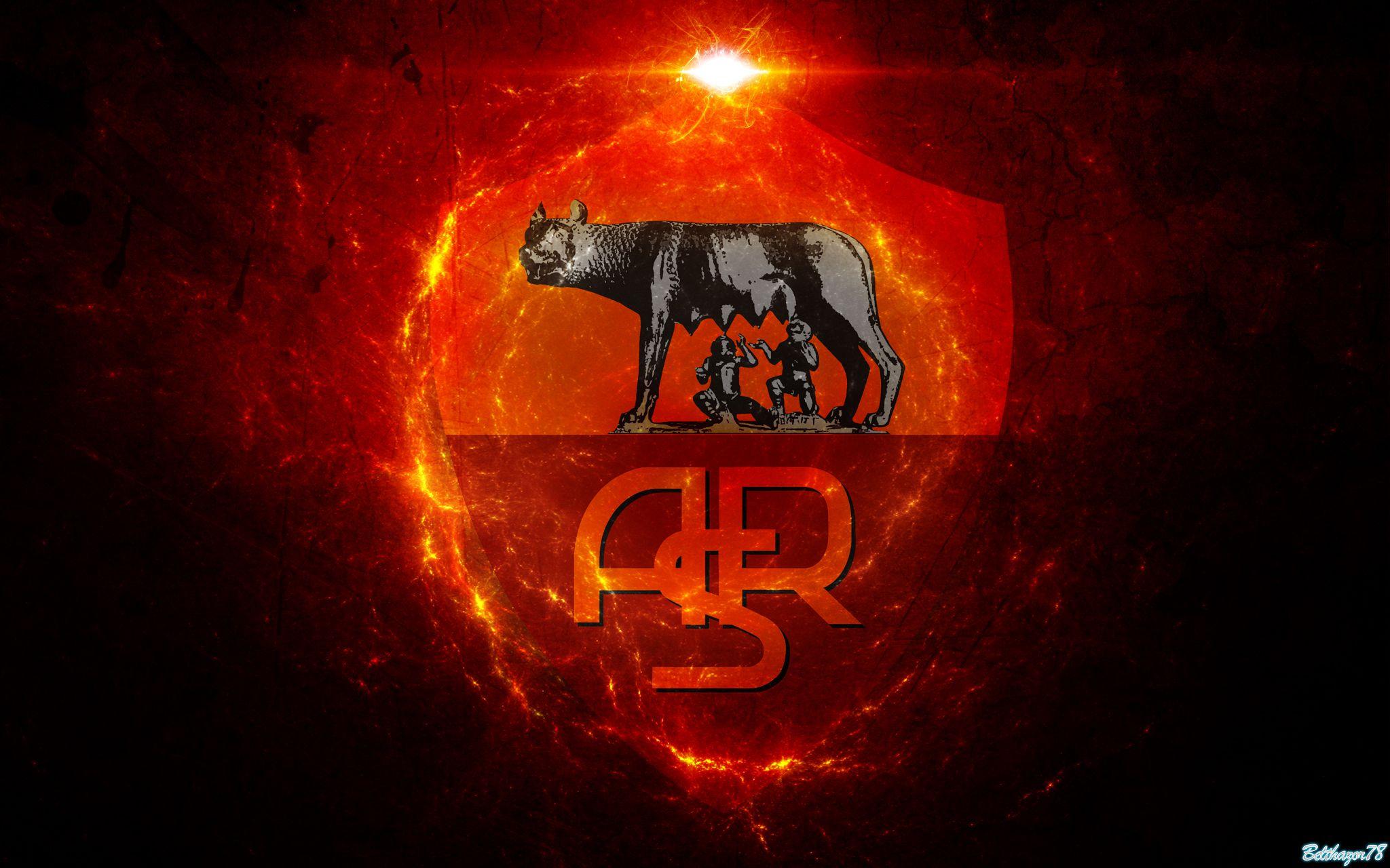 as roma logo wallpaper | as roma calcio | pinterest