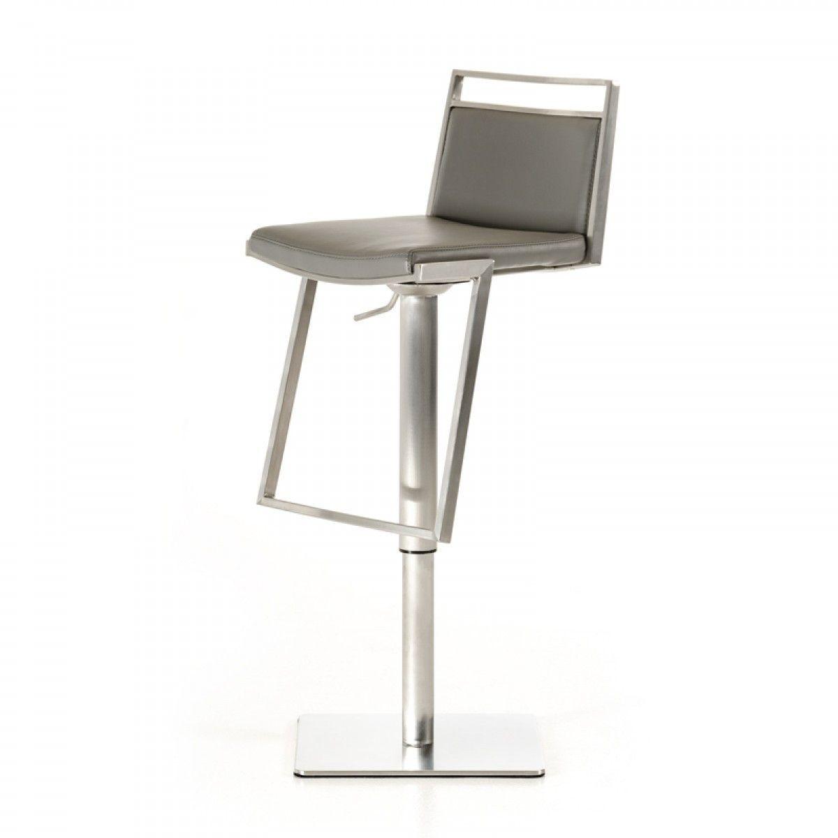 vig modrest peyton modern grey bar stool