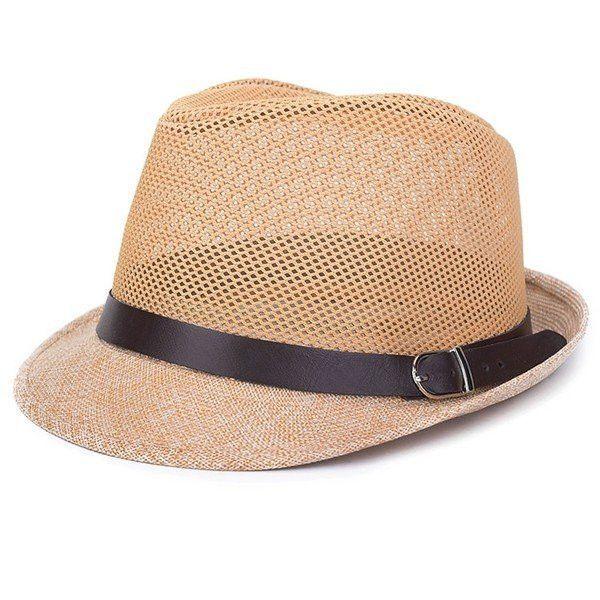 d7fe9e209d6 Men Women Hollow Out Mesh Top Hat Casual Braid Fedora Beach Sun Flax Panama  Jazz Hat