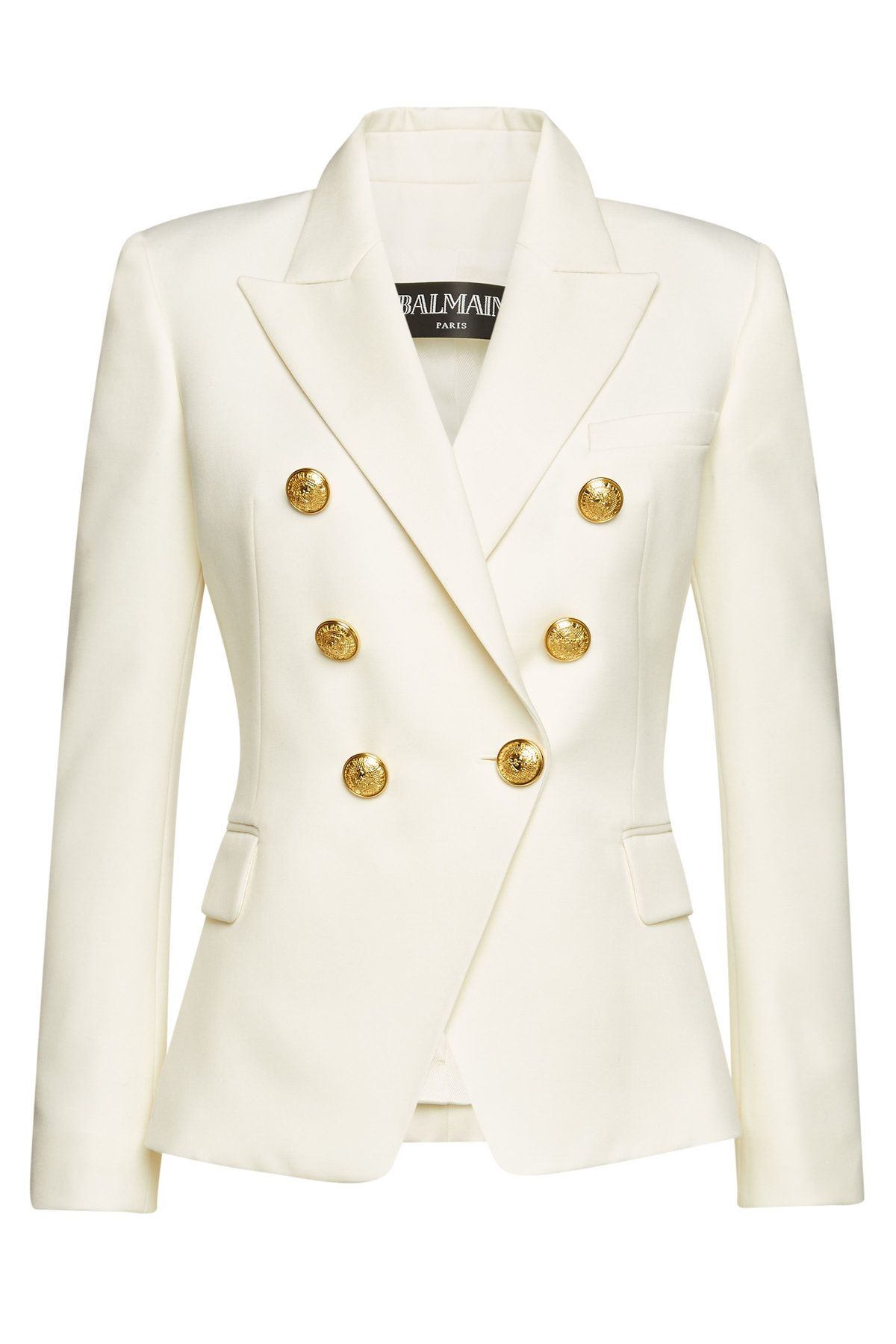a2b9e0e3a Balmain Wool Blazer with Embossed Buttons in 2019 | SUIT JACKET'S ...