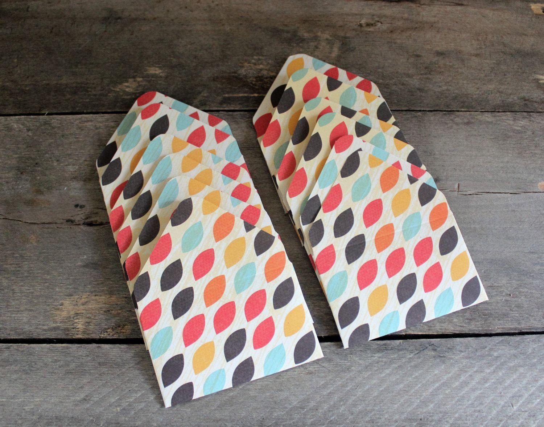 Gift Card Envelopes ~ Cute Mini Envelopes ~ Set of 12 ~ Tiny Envelope ~ Business…