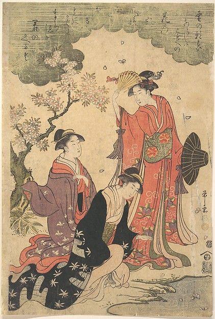 Chōbunsai Eishi, Ladies at a Picnic