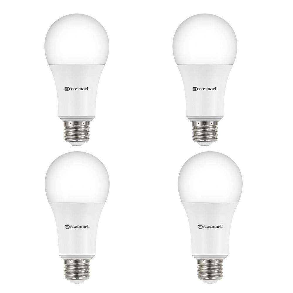 Ecosmart 100 Watt Equivalent A19 Non Dimmable Led Light Bulb Daylight 4 Pack Dimmable Led Lights Light Bulb Bulb