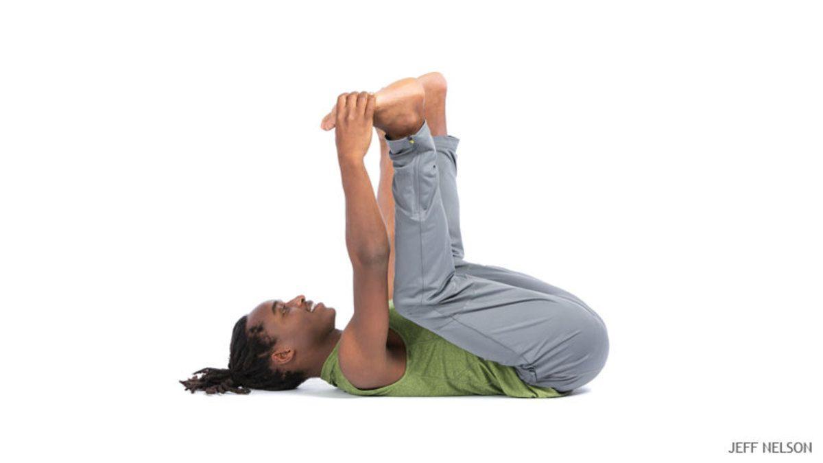 Happy Baby Pose Ananda Balasana Happy Baby Pose Yoga Poses For Beginners Yoga Poses