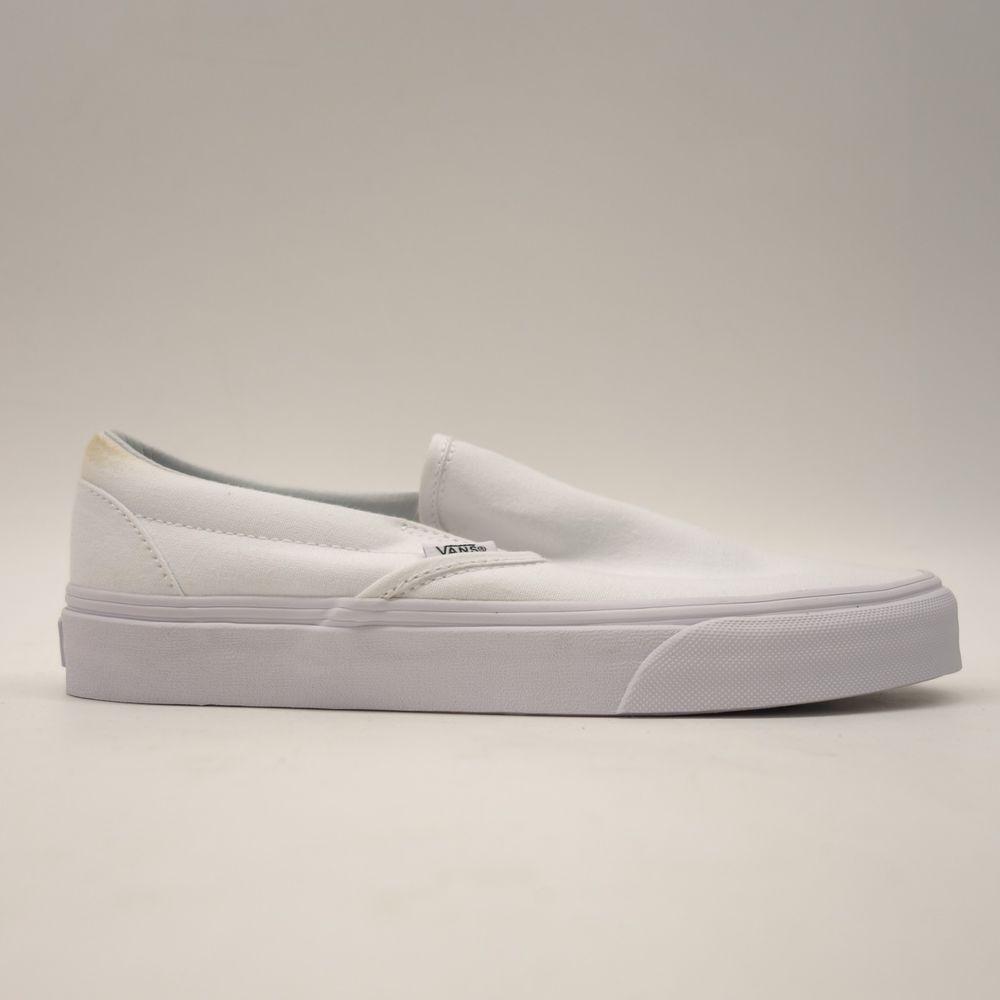 5ec2ad5b31 New Vans Mens True White Classic Slip On Canvas Skater Shoes Size US 7.5 EU  40  VANS  SkateShoes