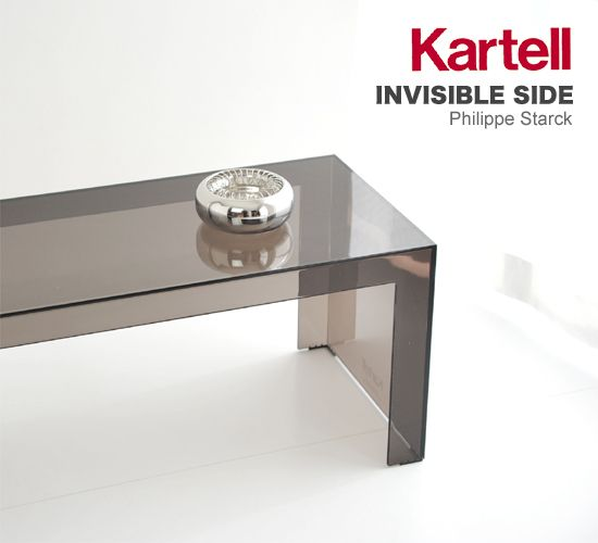 Kartell Invisible Side Alessi Hashtray Acrylic Furniture Pinterest - Kartell invisible coffee table