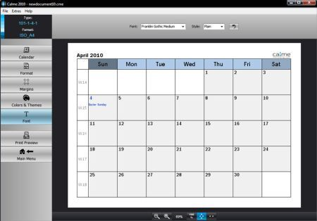 Programm zum Kalender selbst erstellen Kalender