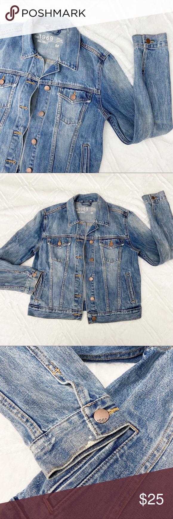 Gap Denim Jacket Women S Medium Blue Jean Coat Denim Jacket Women Gap Denim Jacket Gap Denim [ 1740 x 580 Pixel ]