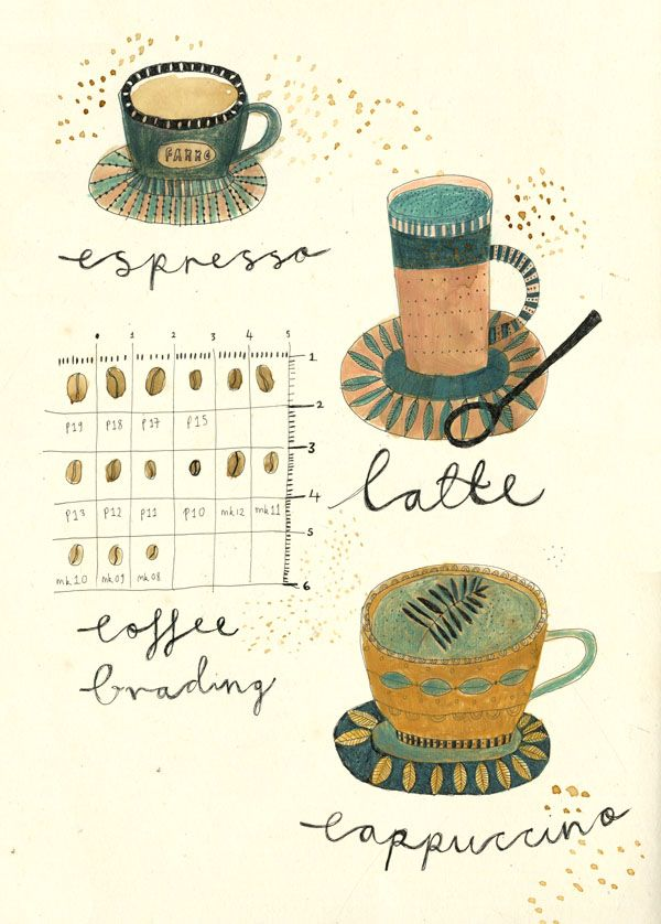 Tea and Coffee. - Katt Frank Illustration.