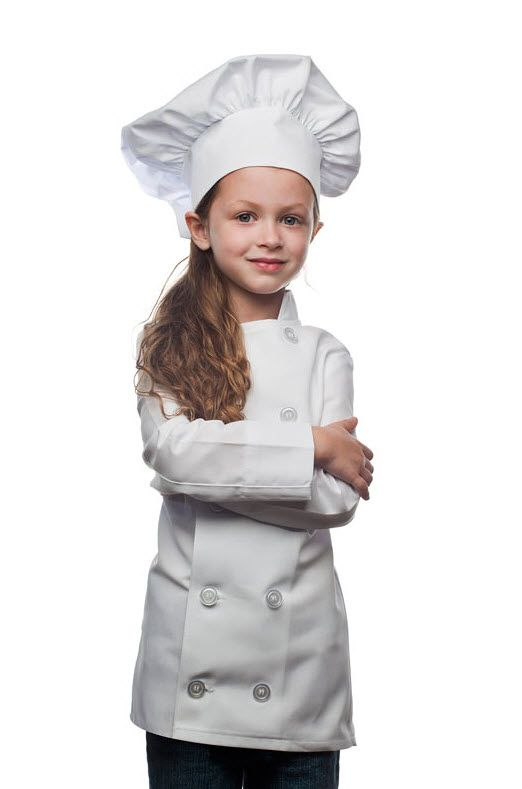 Kids Chef Set Children Cooking Play Kids Pink Cook Costume Funny LA