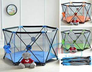 MCC Pop Up Playpen Portable Baby Play Yard With Fitted Playmat Indoor U0026  Outdoor