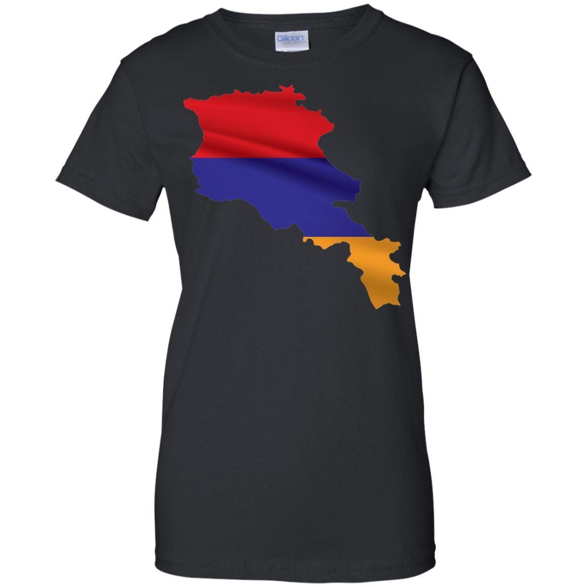armenia flag -01 Ladies Custom 100% Cotton T-Shirt