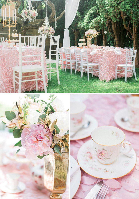 Joint Royal Princess High Tea Garden Birthday Party | Pink garden ...