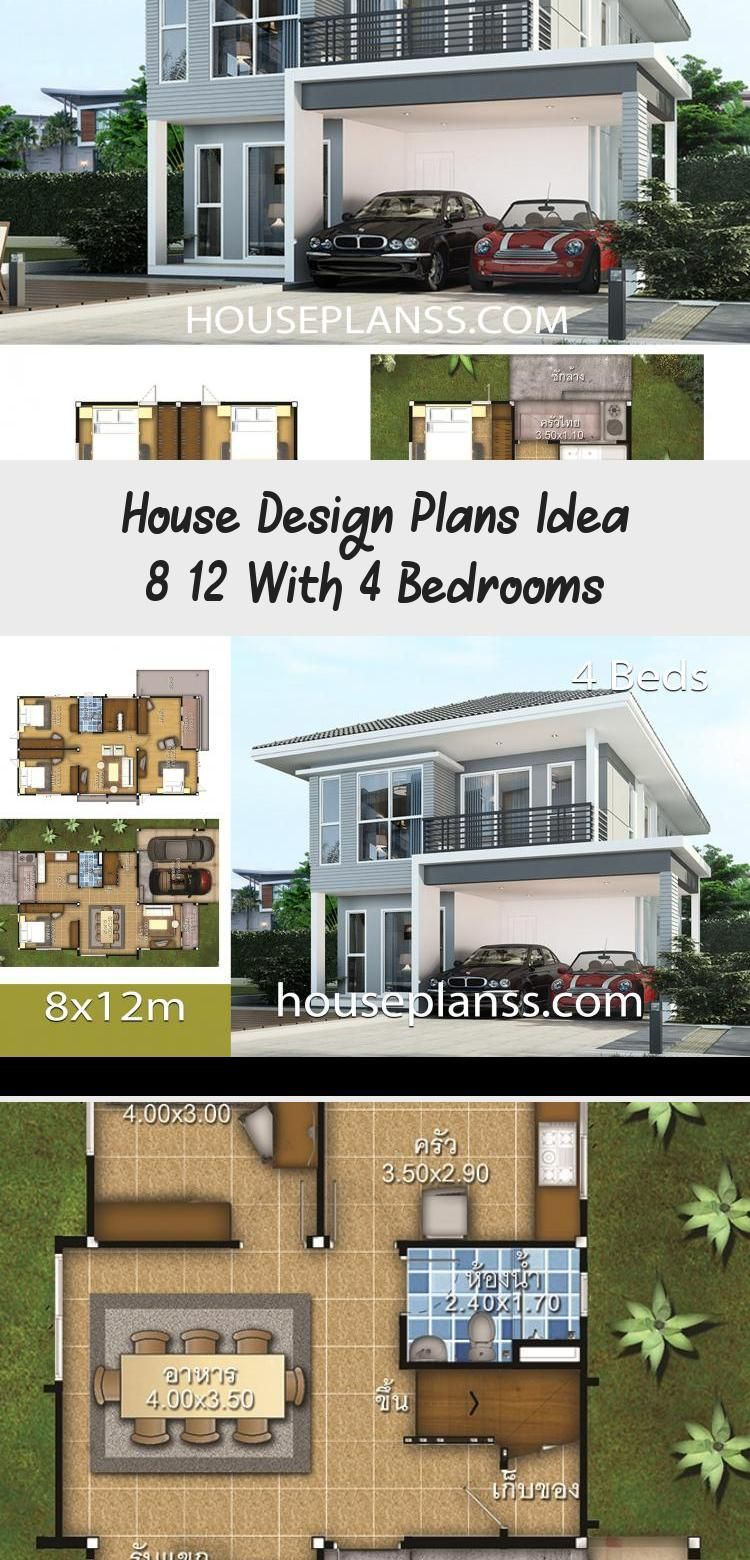 House Design Plans Idea 8x12 With 4 Bedrooms Home Ideassearch Floorplans4bedroomwithpool Floorplans4bedroomcapecod Fl In 2020 House Design Home Design Plans House