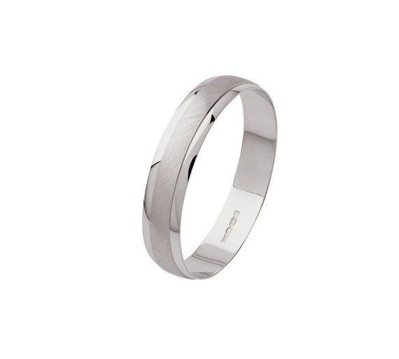 Buy Revere 9ct White Gold Satin Finish Wedding Ring N Womens Rings Argos Wedding Rings White Gold Wedding Rings Wedding Rings For Women
