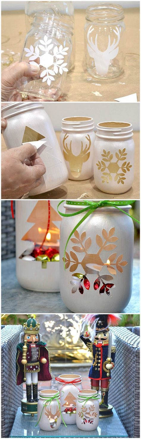 Mason Jar Luminaries | projects | Pinterest | Weihnachten