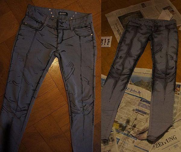 CEL Shaded Style Jeans Pantalon Manga Comic Cosplay Costume