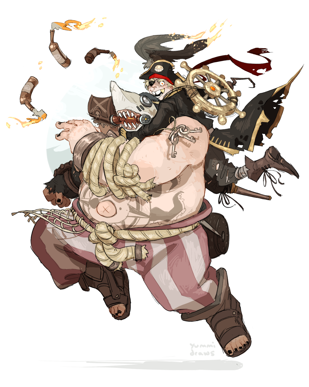 i want a pirate junkrat skin to go with roadhog\'s sharkbait skin ...