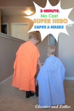 5 Minute, No Cost, Super Hero Cape & Mask! Great way for kids to practice the feeling of control and strength without being overwhelmed. Pinned by The Sensory Spectrum.
