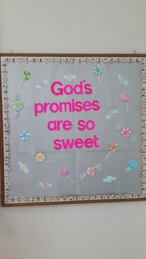 Another Sweet Bulletin Board Idea. Used For Bible Bulletin Board.