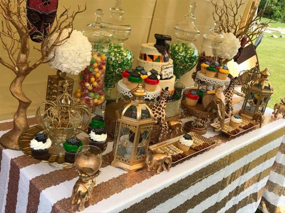 Adrianne Ruff Columbus Ohio Is Absolutely Amazing She Did A Coming To America Themed Baby Sho Lion King Baby Shower Baby Shower Safari Theme Safari Baby Shower