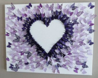 3D, Negative Space, Butterfly Wall Art, Butterfly Canvas Paper,wall Decor,