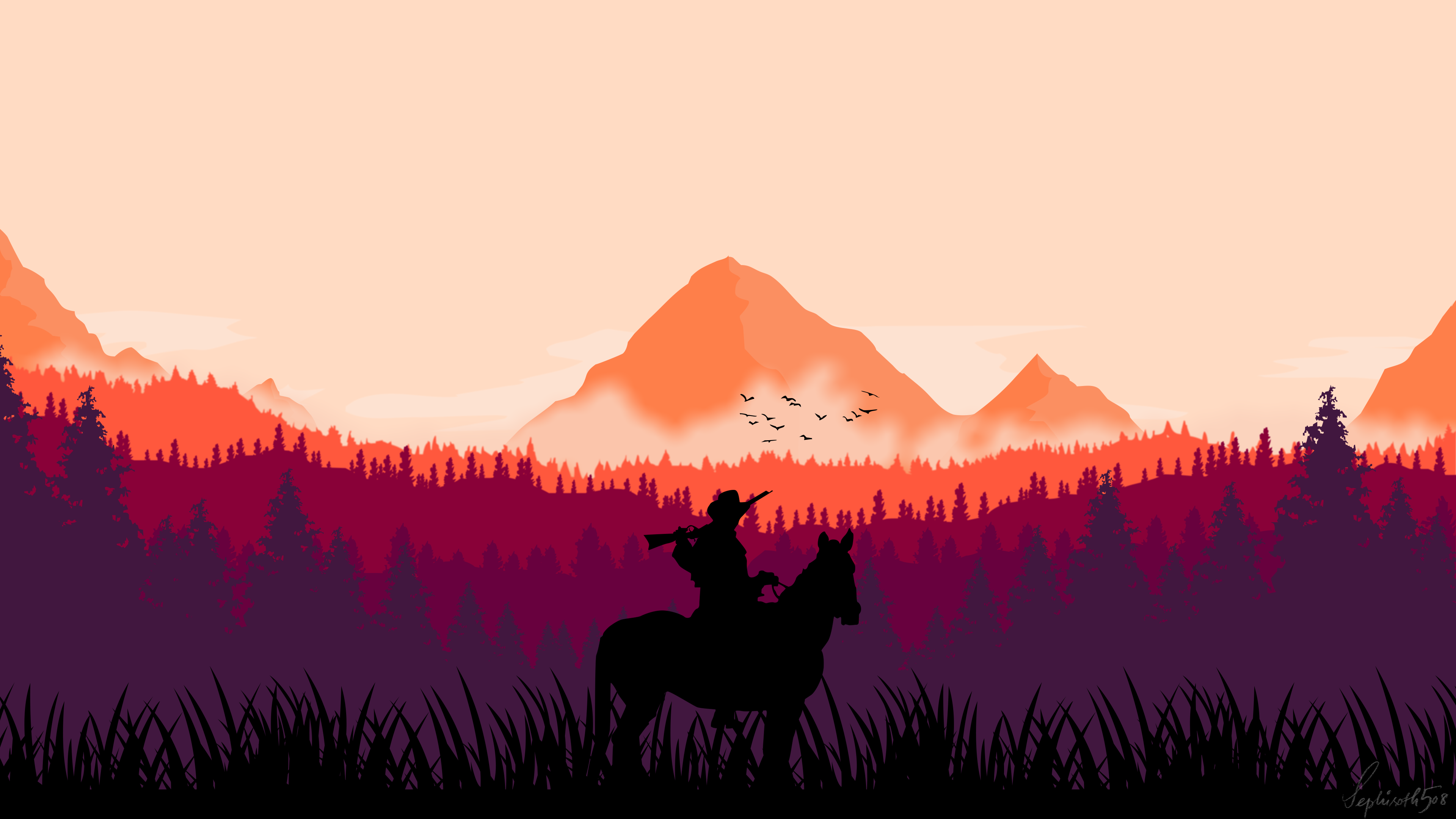 Made A Vector Art For Red Dead Redemption Gamers Red Dead Redemption Background Images Egyptian Gods